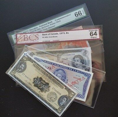 4 - Piece Forign Currency Lot ! Includes Specimen Note