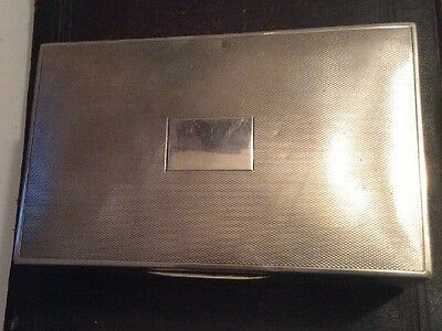 Vintage Sterling Silver 368 Grams Engine Turned Cigar Box Hallmarked England 925