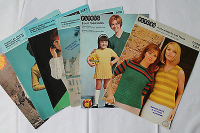 6 Vintage Patons, Sirdar, Lister Knitting Patterns, Women's Jumpers & Cardigans