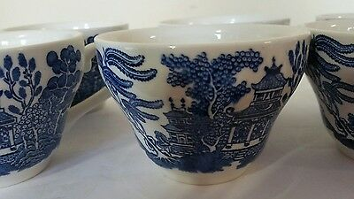 Vintage Churchill England Blue Willow Fine China Tea Cup