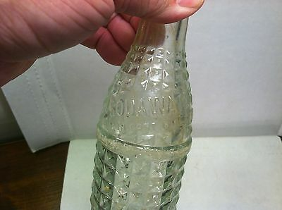 Chero Cola Bottling Co. Soda Water embossed clear glass bottle Bloomington, IL