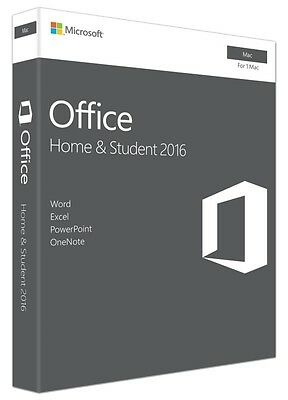 Microsoft Office Home and Student 2016 Mac 1 User licence (GZA-00873)