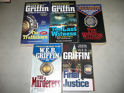 """W.E.B. Griffin """"Badge of Honor""""series Lot of 5"""