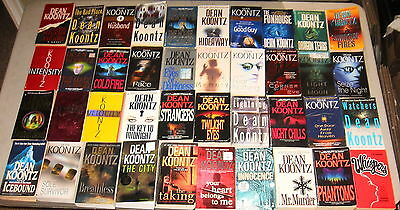 Dean Koontz Massive Lot of 40, All Softcovers, WOW!!