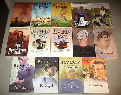 Beverly Lewis Lot  14 Inspirational Historical Christian Fiction