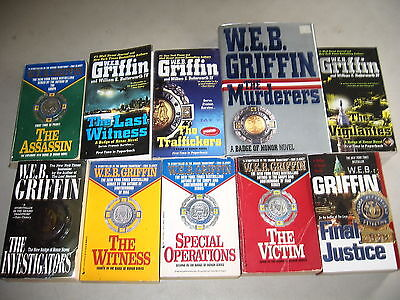 """W.E.B. Griffin """"Badge of Honor""""series Lot of 10"""