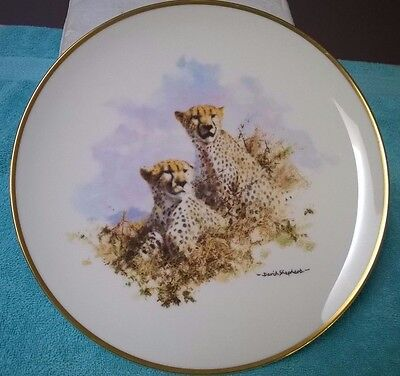 Cheetah From The David Shepherd Wildlife Collection Plate Series By Spink