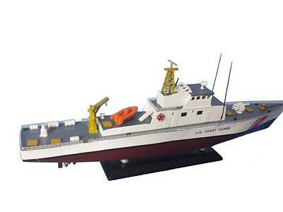 "United States Coast Guard USCG Coastal Patrol Boat 18"" Wooden Model Assembled"