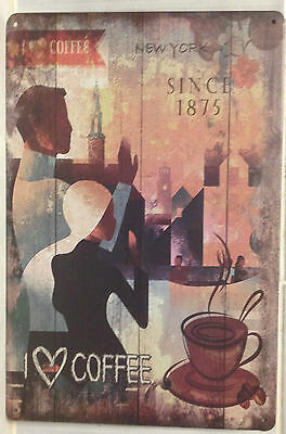 COFFEE Tin Metal Sign Rustic Look .. MAN CAVE . brand new. AU SELLER