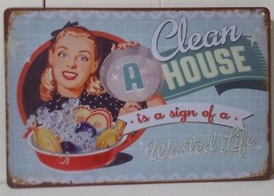 HOUSE Tin Metal Sign Rustic Look .. MAN CAVE . brand new. AU SELLER