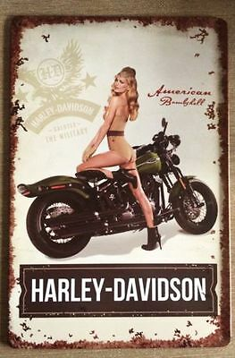 HARLEY Tin Metal Sign Rustic Look .. MAN CAVE . brand new. AU SELLER