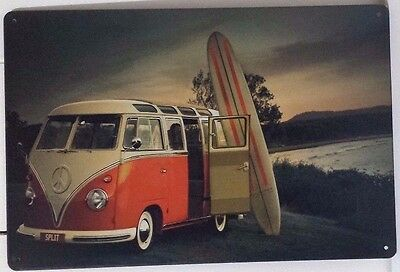 VW Tin Metal Sign Rustic Look .. MAN CAVE . brand new. AU SELLER