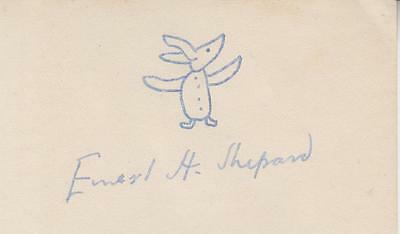Ernest Shepard (E.H. Shepard) - Winnie the Pooh drawing of Piglet