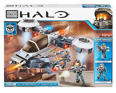 Mega Bloks Halo Wars Police Air Support Hornet Set Construction Toy RRP £29.99