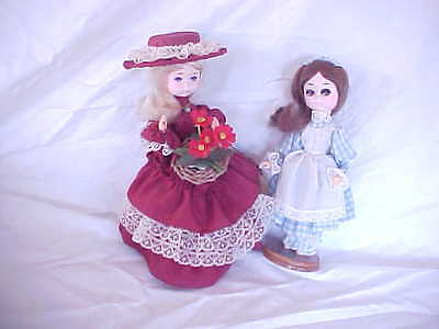 BRADLEY COLLECTIBLE DOLLS VINTAGE LOT OF TWO HEATHER and MISS TURQUOISE DECEMBER