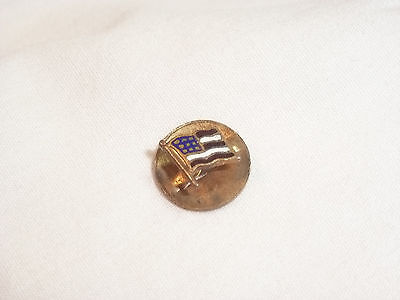 Girl Scout Flag Button Pin Vintage  Very Petite  ---FREE SHIPPING---