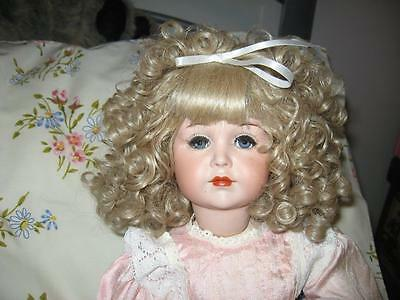 Simon & Hallbig 117/58 Reproduction Porcelain Doll-Jointed Limbs-With Baby Doll