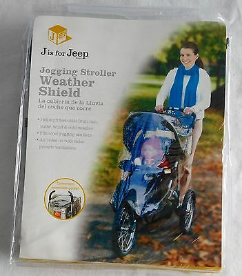 J is for Jeep Jogging Stroller Weather Shield Baby Rain Cover, Universal