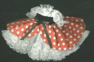 "Madame Alexander 8"" Doll Red Polka Dot Dress"