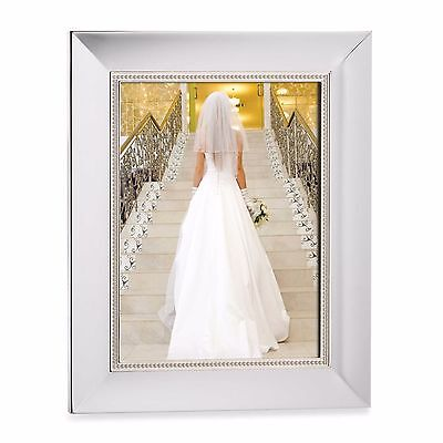10-Inch Home Wedding Elegant Silver Plate Craft Tabletop Display Picture Frame