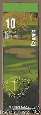 Canada -Booklet Pane of 10 -Royal Canadian Golf Association RCGA #1557b (BK176)
