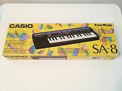 Vintage Casio Sa-8 Electronic Music Keyboard In Original Box Tested And Working