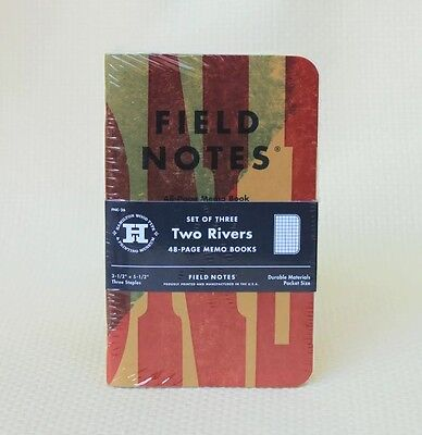 Field Notes Two Rivers Edition (Spring 2015) Sealed Notebook 3-Pack