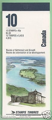 Canada Stamps -Booklet Pane of 10 in Cover -Heritage Rivers #1489b (BK161) -MNH