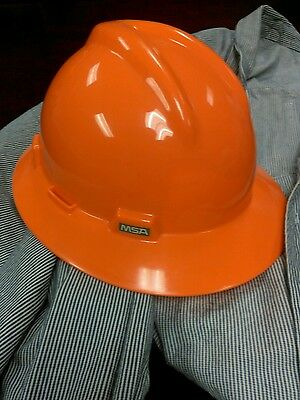 MSA safety  Hard Hat, Full Brim, Hi-Vis Orange