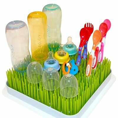 Kuddly Kids Large Lawn Drying Rack Baby Bottle Dish Rack Excellent Drying Grass