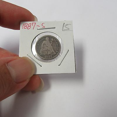 1887-S Liberty Seated Dime ( Combine Shipping )