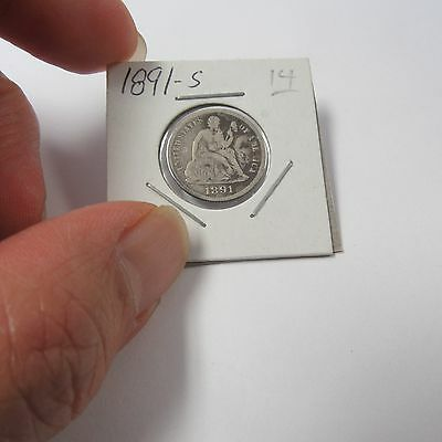 1891-S Liberty Seated Dime  ( Combine Shipping )