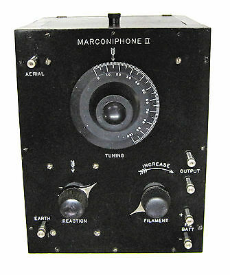 Marconi Wireless Marconiphone ll One Tube Radio Receiver