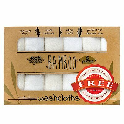 Bamboo Baby Soft Organic Washcloth Towels for Babies 6 Pack