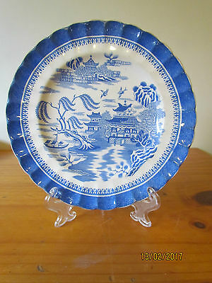 Very Early Antique Copeland Blue & White Plate Asian Pattern