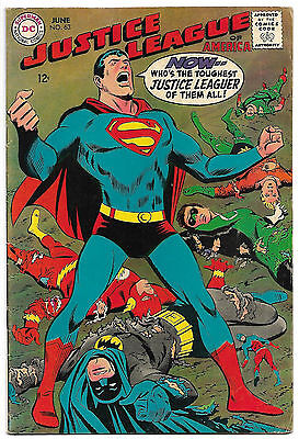 JUSTICE LEAGUE OF AMERICA #63 Fine 6.0 Key Issue 1st Neal Adams JLA Cover!
