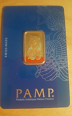 PAMP 10 Gram Fortuna Gold Bar Veriscan ~ Brand New & Sealed ~ 999.9% Pure