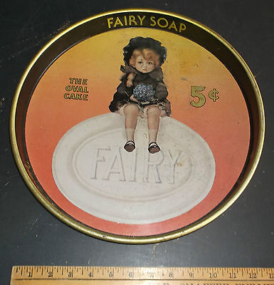 """vintage """"Fairy Soap"""" advertising metal Tray by Cheinco (J.Chein & Co.)"""