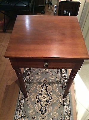 Circa EARLY 1900 SHERATON ONE DRAWER STAND ORIGINAL CHERRY STAIN 'EXCELLENT'