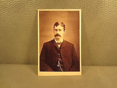 Victorian Antique Cabinet Card Photo of Young Man ......FREE SHIPPING