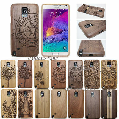 Nautral Wood Bamboo Case Back Cover for Samsung Galaxy Note 5 S7 Edge S8 Plus S9