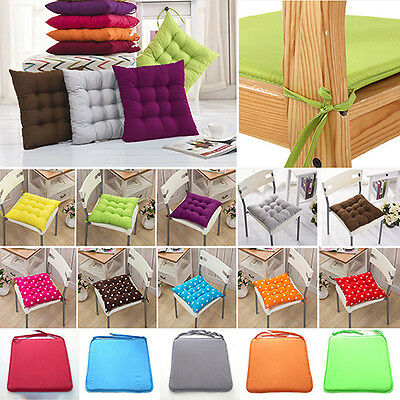 Tie On Chunky Seat Pad Chair Cushion Pads For Dining Room Garden Office Natural