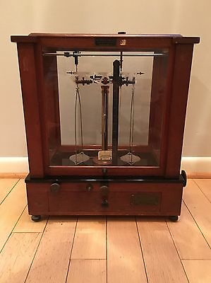 RARE Apothecary dial-reading Christian Becker Chainomatic Analytical Balance