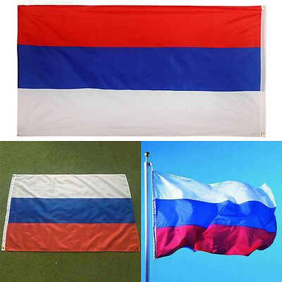 New 150*90CM Russia National Flag Russian Banner w/ Eyelets for Hanging Ornament
