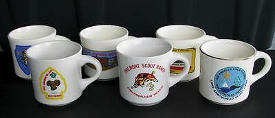 Lot of 6 vintage 1970s-80s BOY SCOUTS Troop Coffee Mugs Los Angeles Area Council