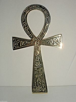 "Brass Ankh - 6.50"" - Alter - Wall Hanging"
