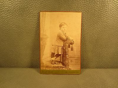 Victorian Antique Cabinet Card Photo of Young Boy ......FREE SHIPPING