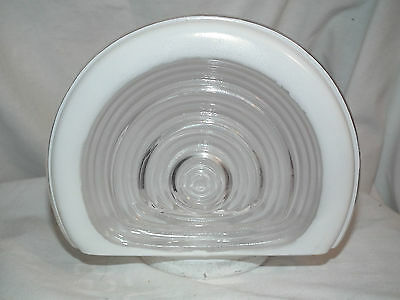 """Vintage Art Deco Clear And Frosted Sconce Light Shade 3"""" Fitter"""