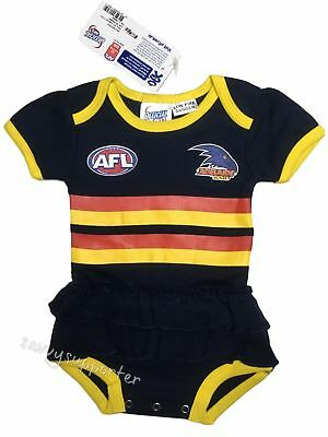 Adelaide Crows AFL Baby Girls Tutu Footysuit 'Select Size' 000-1 BNWT