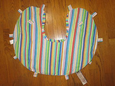 Great Boppy Cover  Bright Blue Green Red Stripe - Boppy Tags - Unisex